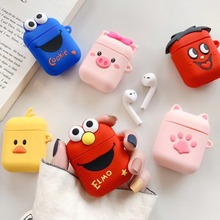 For Airpods Case Cute Cartoon Cat Paw Yellow Duck Silicone Bluetooth Wireless Earphone Protect Cover