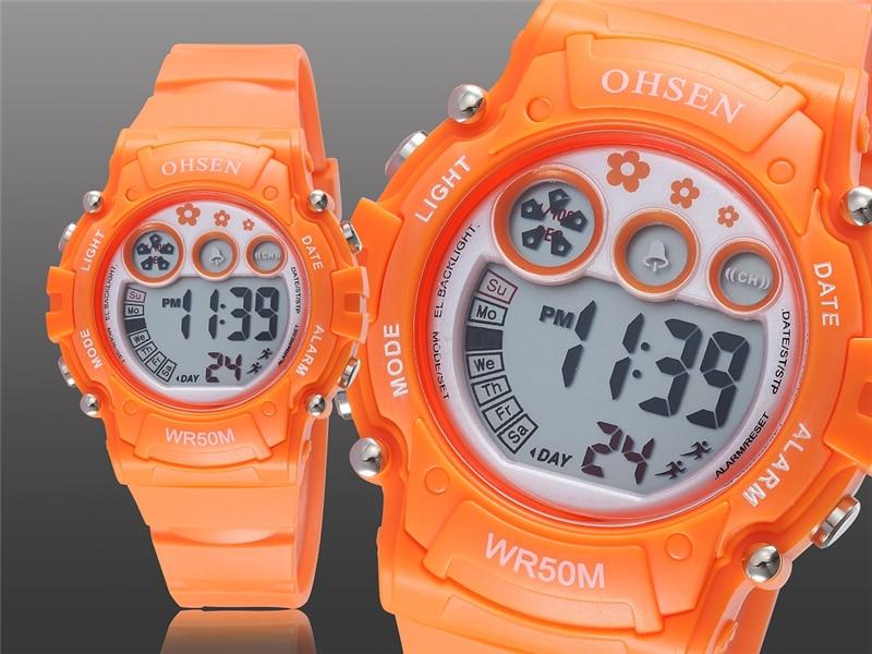 New 2019 OHSEN Digital Quartz Kids Boys Fashion Sports Wristwatch Rubber Band 50M Waterproof Sport Cartoon Cute Children Watches (17)