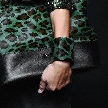 Модный Леопардовый очаровательный кожаный браслет для женщин, ручная работа, этнический Племенной Стиль, подлинные браслеты зеленого цвета, женские модные ювелирные изделия
