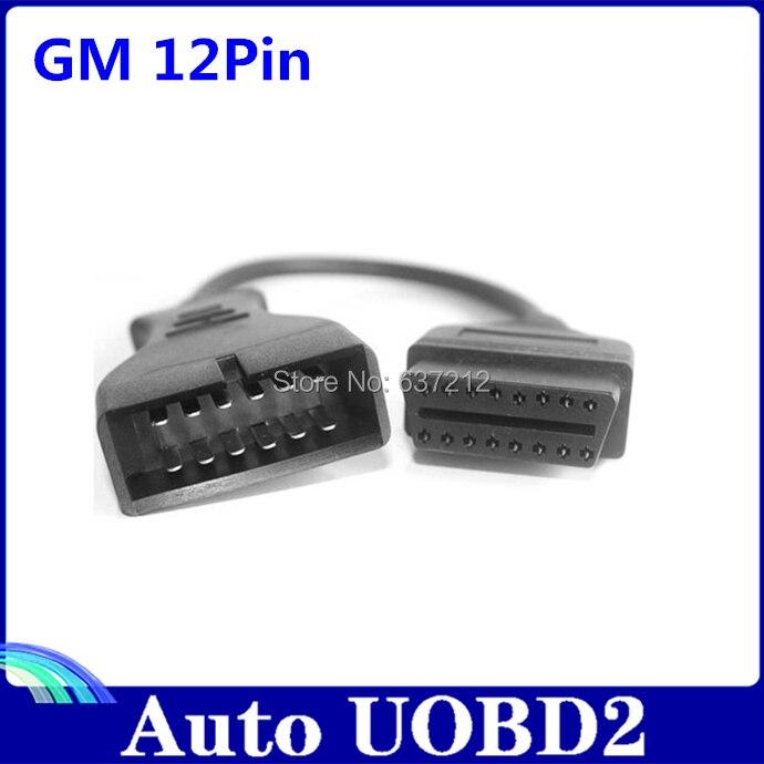 Prix pour Pour GM 12 pino OBD 2 adaptateur connecteur Gm12 Pin obd2 obdii Car Auto accessoires Diagnostic Extension câble 16 pino