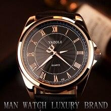 2017 yazole reloj escala romana hombres reloj de cuarzo versión coreana de gama alta de negocios hombres reloj luminoso relogio del hombre masculino