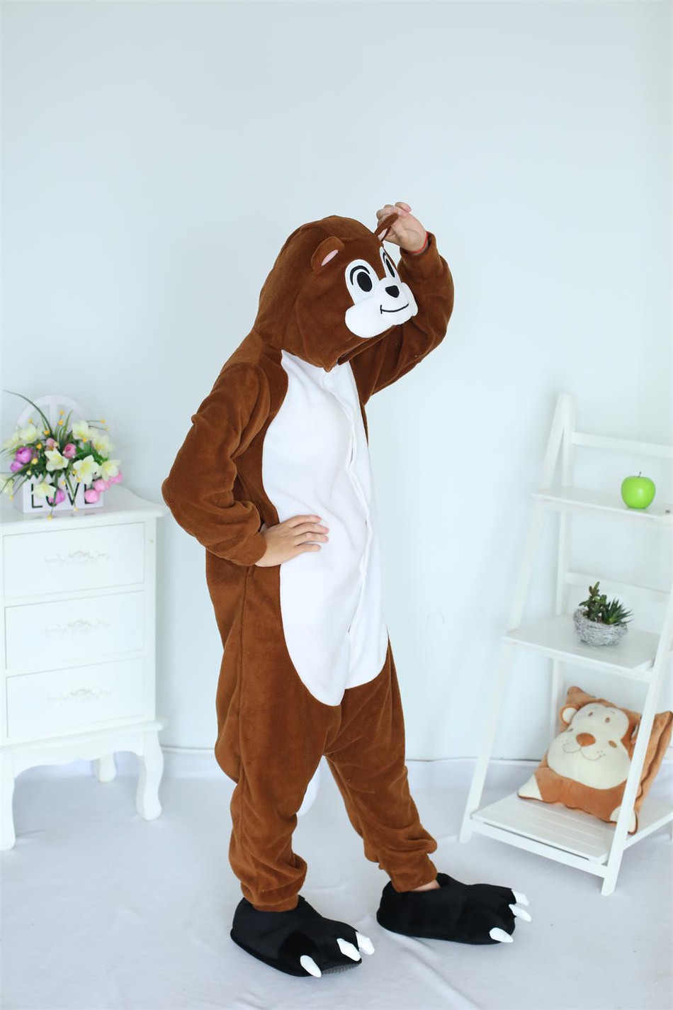 Cartoon Unisex Animal Adult Chipmunk Onesie Pajamas Sleepsuit Sleepwear Anime Cosplay Costume Unisex Fashion