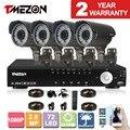 Tmezon 2.0mp 8ch ahd 1080 p 2.8-12mm sistema de segurança cctv 4 p noite visão noturna IR À Prova D' Água Câmera de Alarme Home Diy Kit Zoom 1 TB 2 TB HD