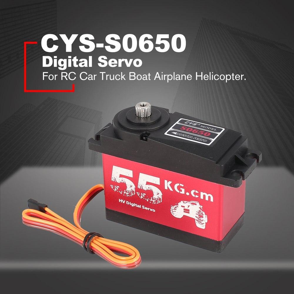 CYS-S0650 grand 55Kg HV métal engrenage numérique Servo pour RC voiture bateau Robot HPI pièces de rechange accessoires RC Servo
