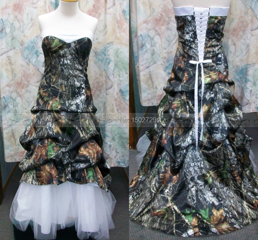 blue camo wedding dresses Camo Wedding Dresses Trend For A Happening Wedding