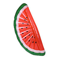 Inflatable Giant Watermelon Slice Shaped Floating Mat Sunbathe Beach Mattress Swimming Ring Sea Party Toys for INS Photos