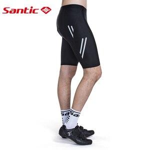 Image 4 - 산티 사이클링 반바지 Coolmax 4D 패드 Shockproof 남자 MTB 반바지 Santic R FEEL Anti pilling AIRFREE 자전거 타기 아시아 크기 KS007