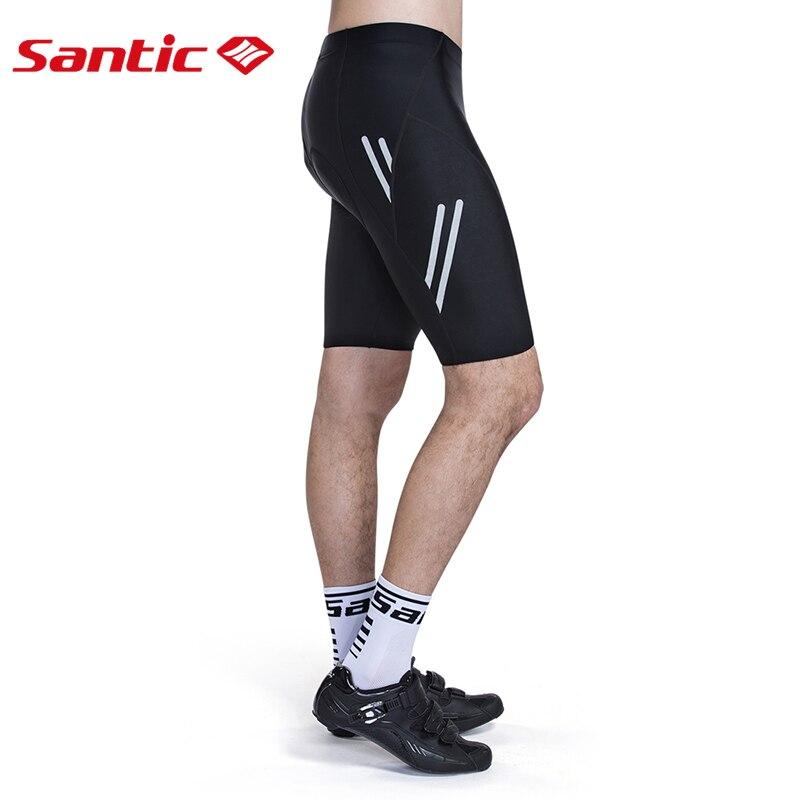 Santic Men Cycling Padded Shorts Coolmax 4D Pad Shockproof SANTIC R FEEL Anti pilling SANTIC AIRFREE Biking Riding Shorts KS007 in Cycling Shorts from Sports Entertainment