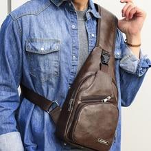 Bandolera Vintage para hombre, bolso de cuero Pu, bolso de