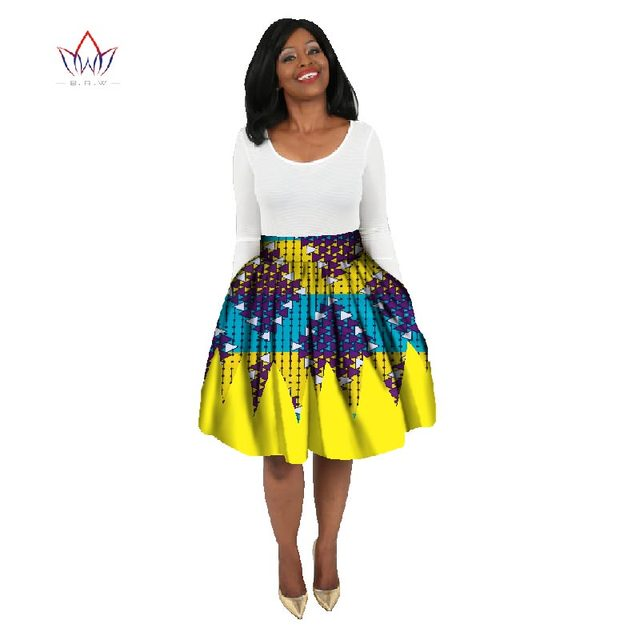 08bda8ed1f 2018 Fashion African Wax Print Skirts Bazin Plus Size 6XL African Clothes  for Women Dashiki Sweet Ball Grown Skirt WY777