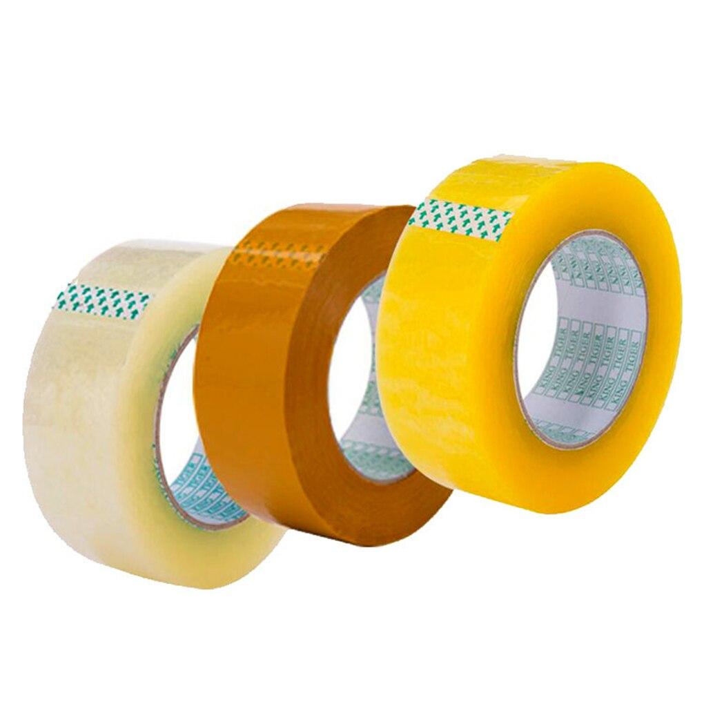130 Meter Parcel Box Adhesive Clear Packing Packaging Shipping Carton Sealing Tapes 48MM X 60 Meter