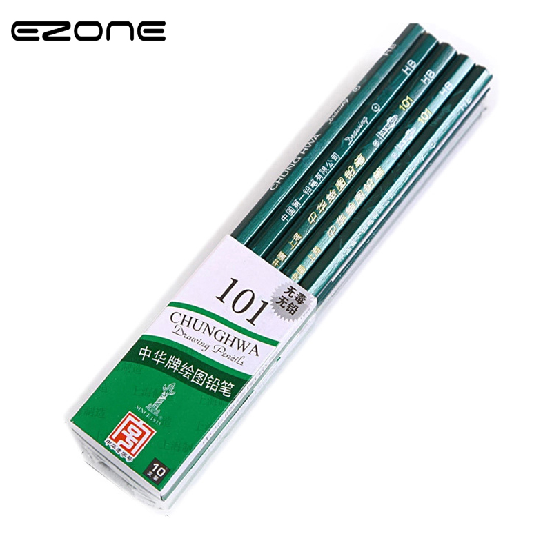 EZONE Pencil 2H HB 2B 3B 4B 5B 6B Sketch Test Drawing Pupils Painting Special Safe and Non-toxic/Exquisite Design Stationery