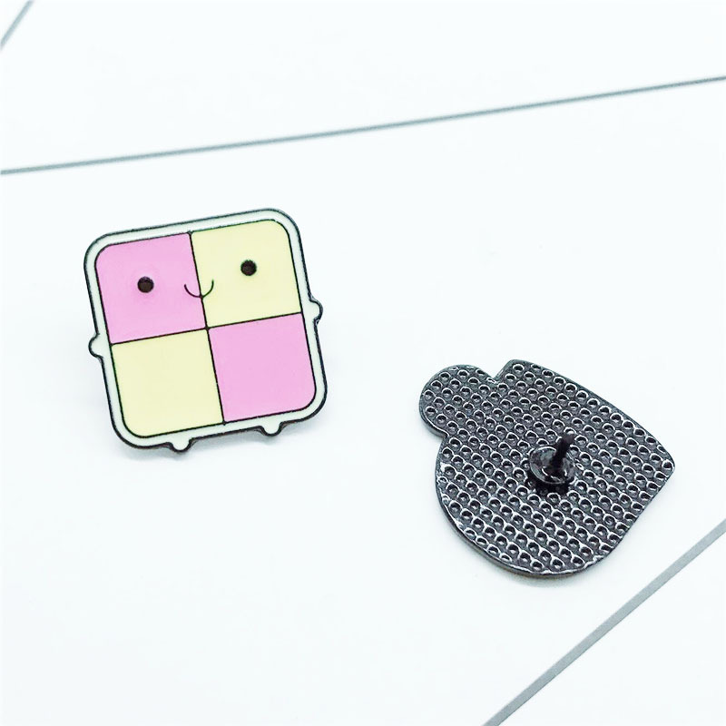 New Cartoon Milk Cup Brooches Checkered Cooker Badge Sweatshirt Jeans Collar Pin Fun Pin Metal Alloy Jewelry Enamel Pins Gift in Brooches from Jewelry Accessories