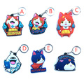 60pcs hot fashion chaveiro mixed color chooose pvc soft yokai watch keychain for gift K00044