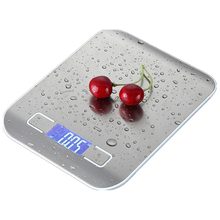 1Pc Electronic Kitchen Scale Spoon Scale Digital Food Scale Stainless Steel Weighing Scale LCD High Precision Measuring Tools laboratory balance scale 50g 0 001g high precision jewelry diamond gem lcd digital electronic scale counting function portable