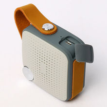 Mini bluetooth altavoz inalámbrico de audio original correa de cuero impermeable de radio fm micrófono bluetooth 4.0 batería recargable(China (Mainland))