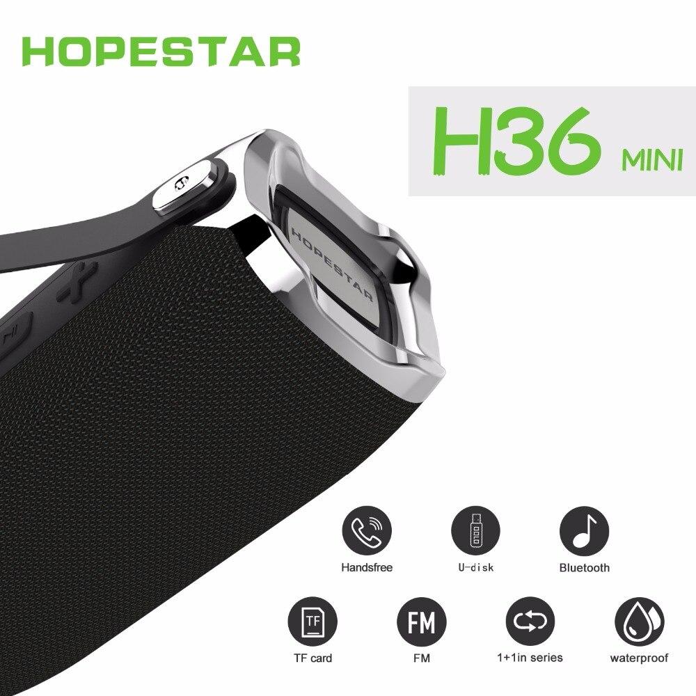 Hopestar h36 Беспроводной Bluetooth Динамик переносной мини IPX6 Водонепроницаемый столбцов сабвуфер стерео звук Динамик для телефона ПК