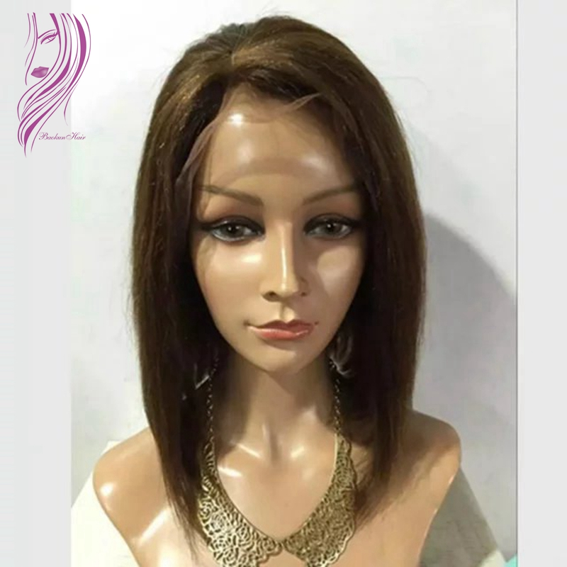 Free shipping yaki straight side part short bob wigs for black women synthetic lace front wig heat resistant wigs with baby hair цена