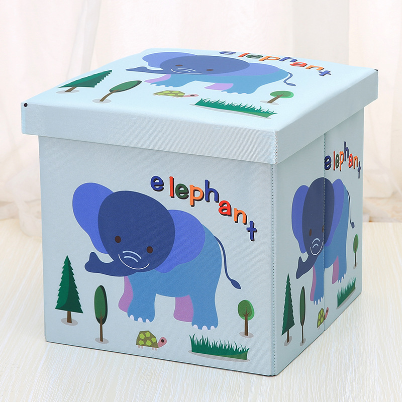 Cute Animal Collapsible Toy Storage Organizer Folding: Cute Home Furnishing Oxford Cloth Folding Stool Cartoon