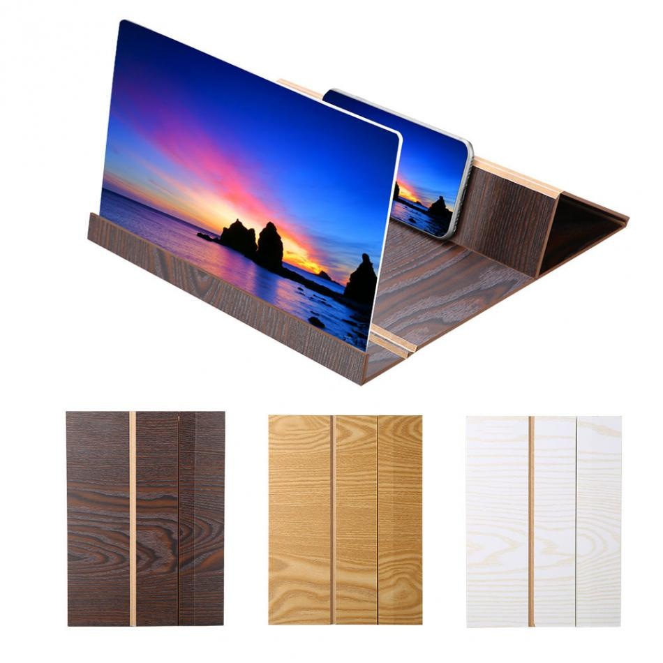 12 inch Mobile Phone 3D high Definition Wood Grain Screen Magnifying Glass Smart Movie Video Mobile Phone Magnifying Glass Radiation Protection Eye,2