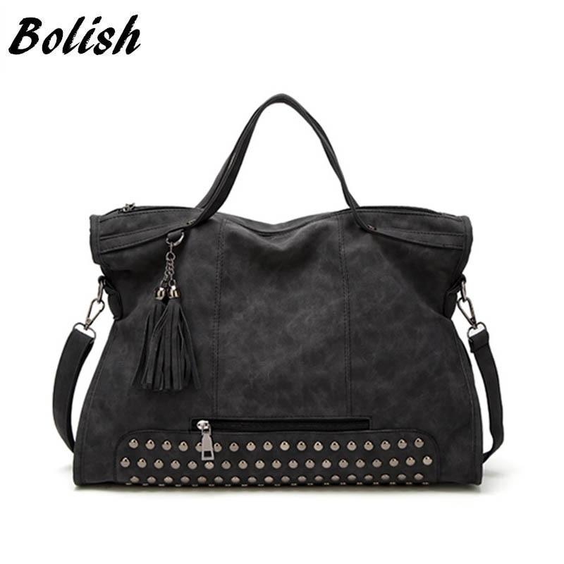 Bolish Drop shipping Bolsa Feminina Female High Capacity Tassel Crossbody Bag Lady All-Purpose Style Daily Shopping Handbag