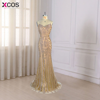 Robe De Soiree Real Photos Tulle Crystal Royal Blue Color Party Occasion Formal Long Evening Dress