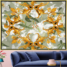 Court style white lily Deconstruction Tapestry Vintage macrame painting retro flower Wall Hanging mandalas home decor GN.PAPAYA