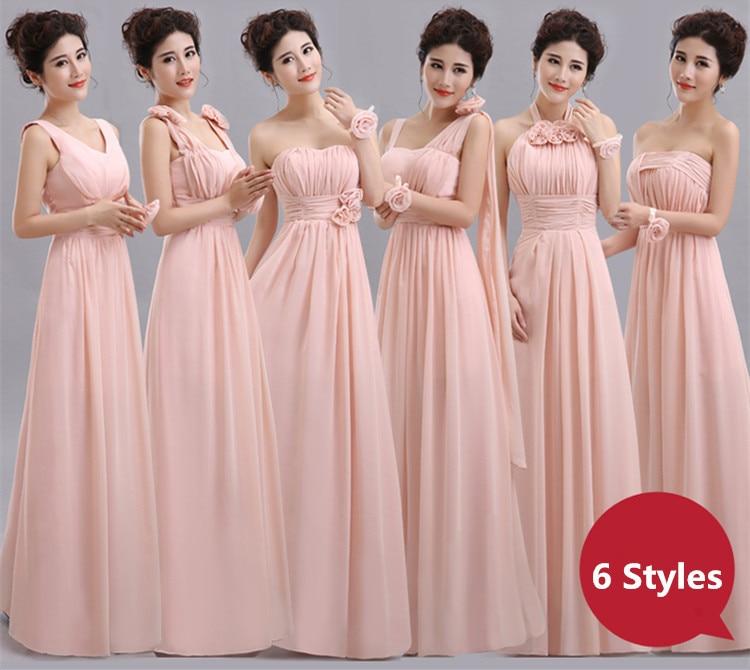 Aliexpress.com : Buy Blush Pink Bridesmaid Dress Floor Length ...