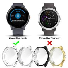 Waterproof Dustproof Smart Watch Protector Case Soft TPU Plated Rugged Cover Bumper For Garmin Vivoactive 3 Music