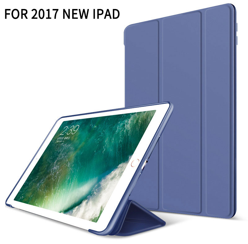 blue Super thin smart case with stand for iPad 9.7 2017, 2018