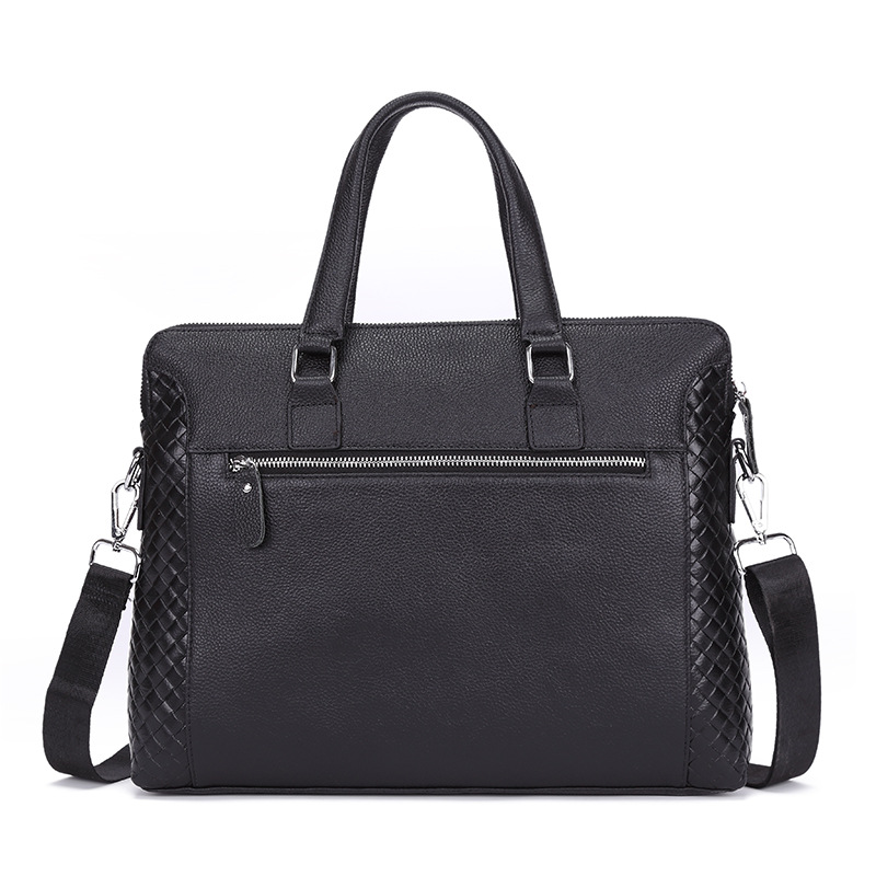 New Luxury 100% Cow Genuine Leather Business Mens Briefcase Male Shoulder Bag Real Leather Men Messenger Bag Weave Computer BagNew Luxury 100% Cow Genuine Leather Business Mens Briefcase Male Shoulder Bag Real Leather Men Messenger Bag Weave Computer Bag