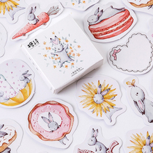 45pcs/box Kawaii Month Hare Paper Stickers Diary Decor DIY Scrapbooking Sticker