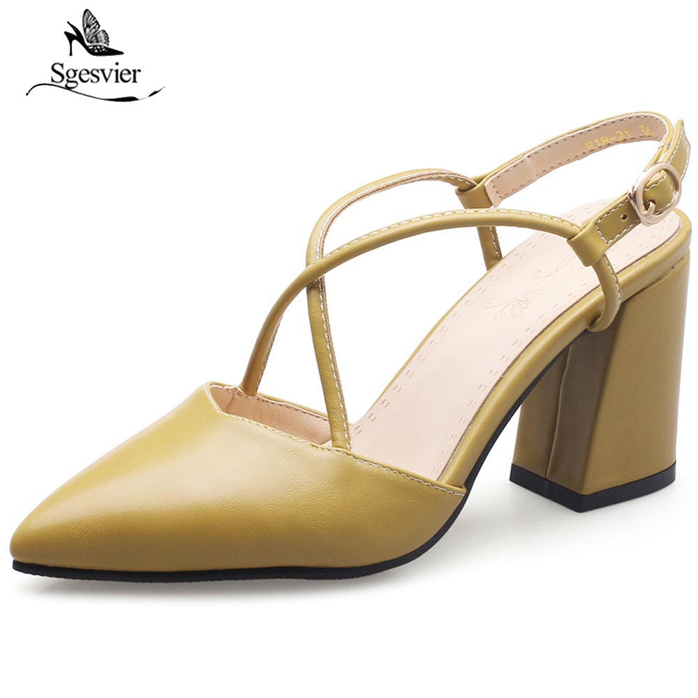 SGESVIER 2018 New Summer Women High Heel Shoes Woman Sandals Thick Heel Women Shoes Platform Sandalias Buckle Shoes Woman OX259 lapolaka 2018 brand new horsehair woman elegant wedges high heel women shoes platform black summer sandals women