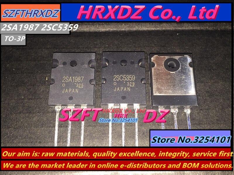 SZFTHRXDZ (5 sets)/ (10 sets)  new imported original 2SA1987 2SC5359  A1987  C5359   TO-3P 2sd718 d718 to 3p