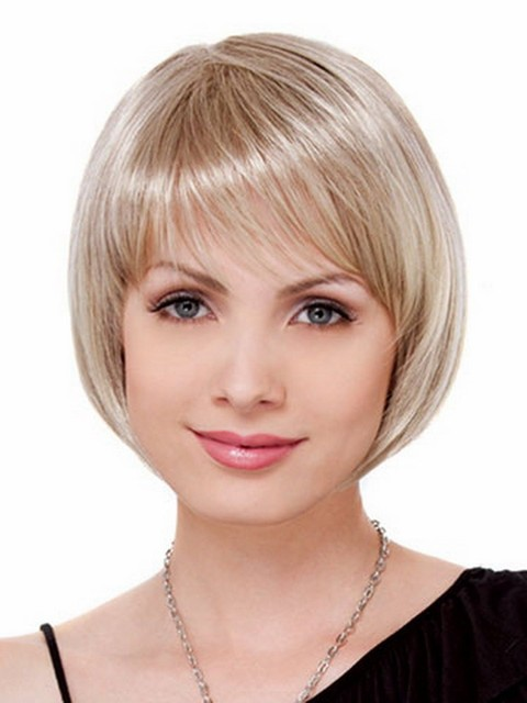 Short Straight BOBO Wig Women Synthetic Hair Heat Resistant Hair Blonde Wigs