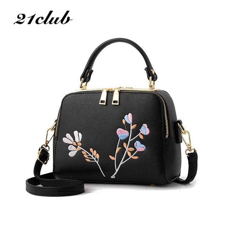 21club women double zipper sequined embroidery small flap handbag ladies purse famous brand messenger crossbody shoulder bags