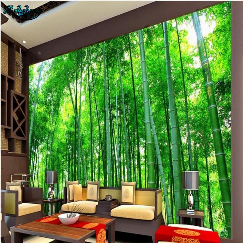 background bamboo landscape beibehang stereo forest decoration bedroom living 3d custom tv