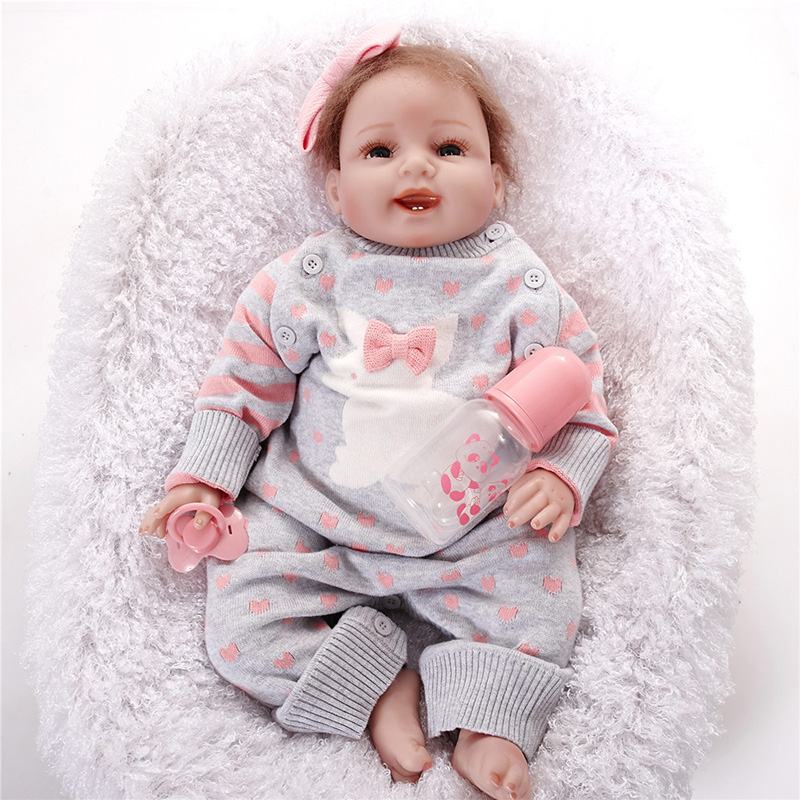 Fashion reborn dolls silicone Vinyl Baby Girls Doll Silicone Babies Reborn Dolls Toddler SB5513 kids toys for girls baby-reborn брюки love republic love republic lo022ewutb83