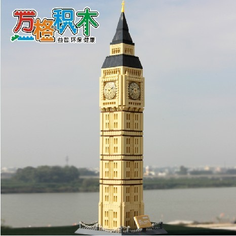 Wange Model building kits compatible with lego city The Big Ben of London 906 3D blocks Educational toys hobbies for children wange the china hui style architecture model building blocks classic chinese house educational toys for children gifts 5310
