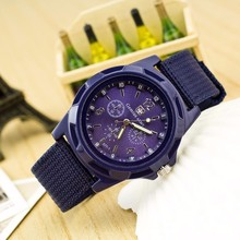 To Luxury Brand Men Quartz Watch Army Soldier Military Canvas Strap Fabric Analog Wrist Watches Sports Wristwatches Clock