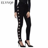 Vintage Black High Waist Women Jeans Plus Size Skinny Jeans Woman Jean Femme 2018 Casual Spring Denim Trousers Pencil Pants N256