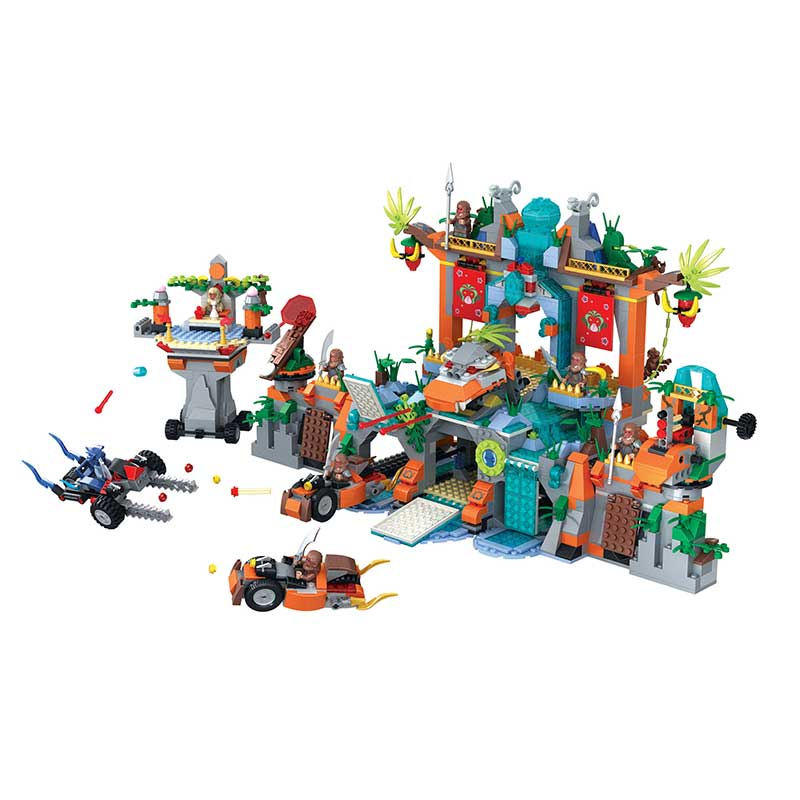 AIBOULLY 5042 Fantasy Westward Journey The water curtain cave Building Block Brick minis Educational Toy gift  compatib bioelectric therapy device prostatitis treatment natural remedies
