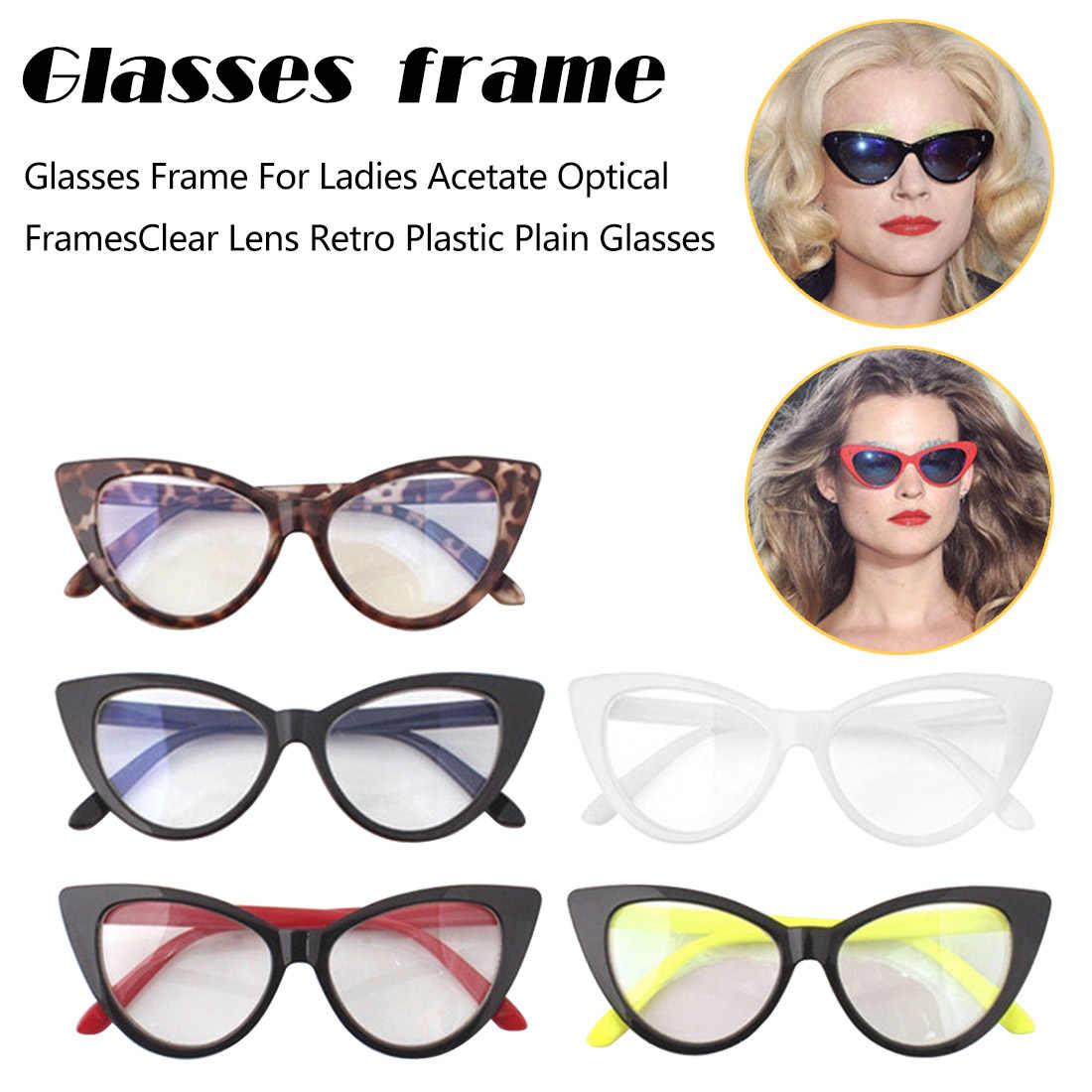 357becaaba ... Modern Elegant Design Cat Eyes Shape Glasses Frame For Ladies Acetate  Optical Frames Retro Plastic Plain