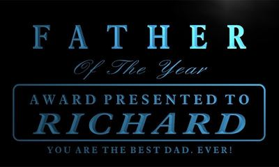 x0007-tm Richard - Father of the Year Award Custom Personalized Name Neon Sign Wholesale Dropshipping On/Off Switch 7 Colors DHL