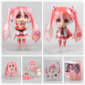 Cute Nendoroid Anime Hatsune Miku Sakura Miku 500# 10cm PVC Action Figure Collectible Model Toy Doll KT657