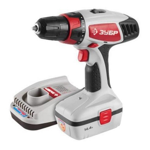 Drill driver rechargeable ZUBR BUIL-144-2 KEY wrench rechargeable zubr shua 18 to