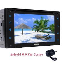 Android 6.0 Wifi in Dash 2Din Car headunit Deck GPS Navigation Player Automotive Car Stereo GPS FM AM Radio Receiver+Rear Camera