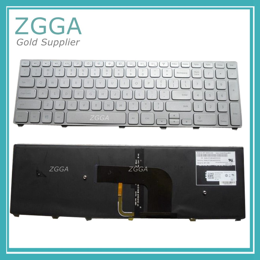 Genuine US English Layout Keyboard NEW for Dell Inspiron 15 7537 15-7537 15-7000 15 7000 Laptop Keyboards Backlight Silver Frame best seller laptop keyboards for hp envy15 15 j000 15 j015 ru black with silver frame and backlit 9z n9hbv 40r