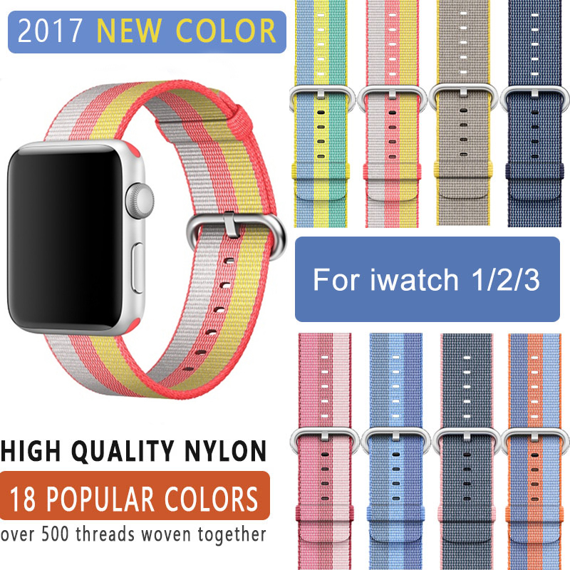 BUMVOR Series3/ 2/1 Woven Nylon Sports Strap Band for Apple Watch Sport Edition 38mm 42mm Case