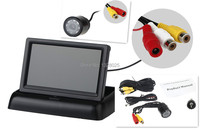 Free Shopping E325 Rear Cameras 25MM 8LED High Definition Night Vision DVD Wireless Receiver 4 3inch